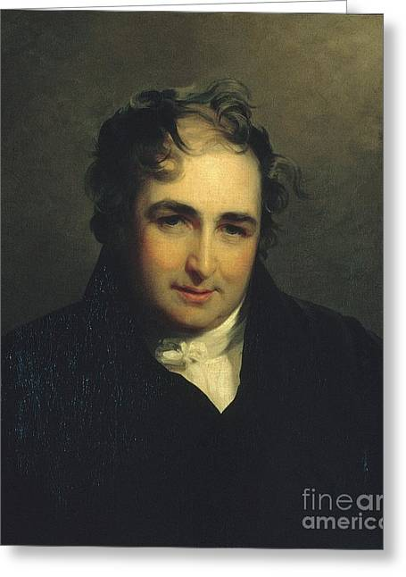 Thomas Sully Greeting Card by MotionAge Designs