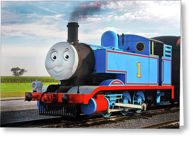 Thomas The Train Greeting Card by Paul W Faust -  Impressions of Light