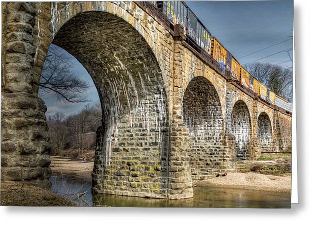 Greeting Card featuring the photograph Thomas Viaduct Panoramic by Dennis Dame
