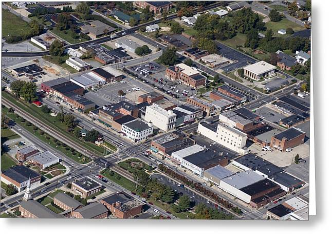 Thomasville Nc Aerial Greeting Card by Robert Ponzoni