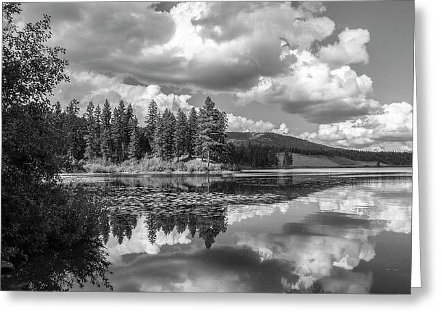 Thompson Lake In Black And White Greeting Card