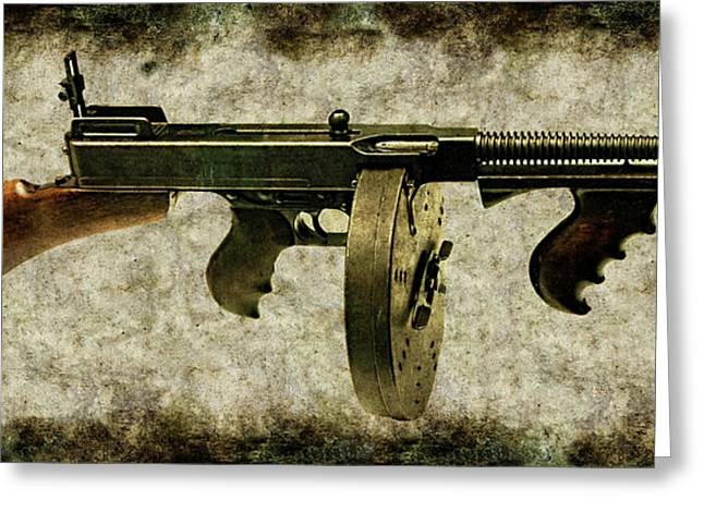 Thompson Submachine Gun 1921 Greeting Card