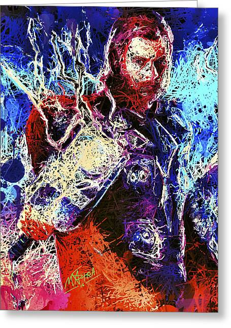 Thor Charged Up Greeting Card
