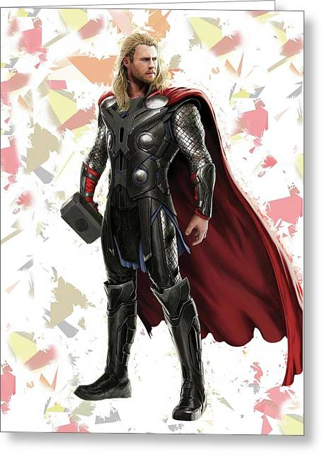 Thor Splash Super Hero Series Greeting Card by Movie Poster Prints