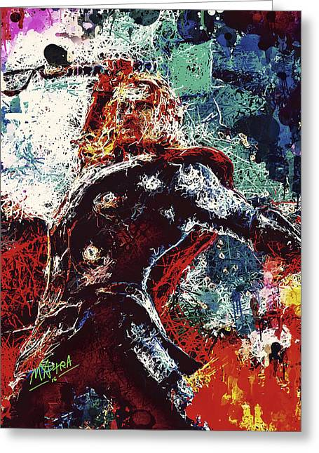 Greeting Card featuring the mixed media Thor  by Al Matra