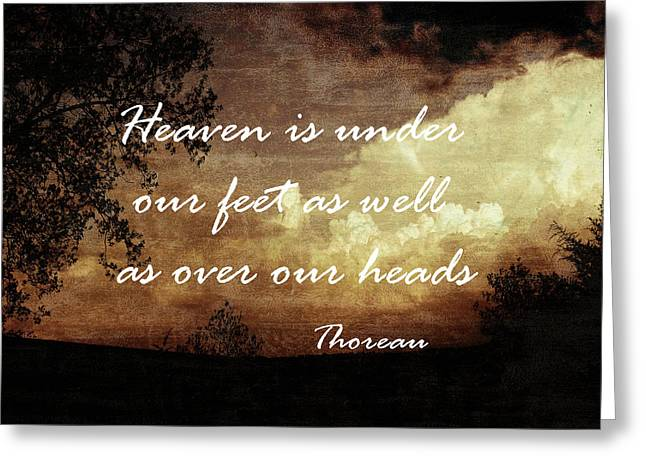 Thoreau Nature Quote Greeting Card by Ann Powell