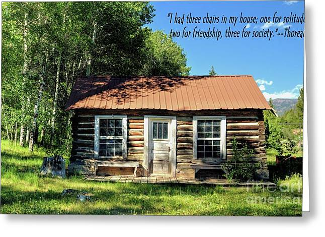 Thoreau--three Chairs Greeting Card