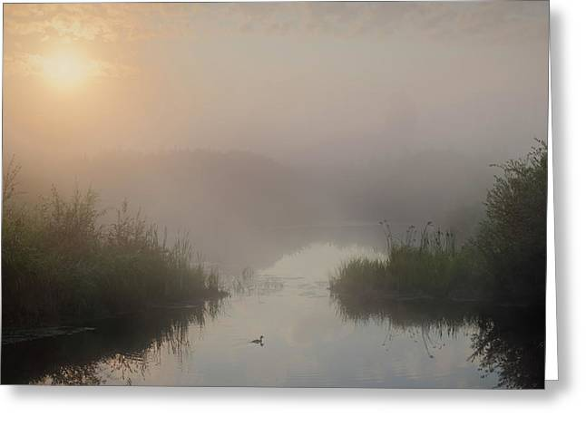 Thorhild County Pond Greeting Card
