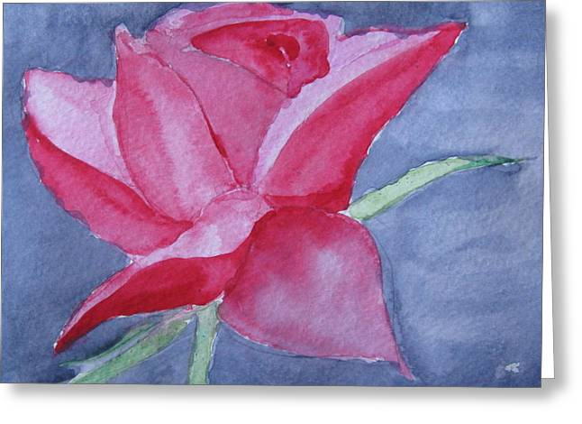 Greeting Card featuring the painting Thorn Free by Trilby Cole