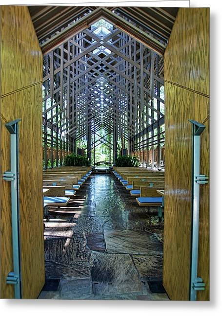 Thorncrown Chapel Entrance Greeting Card