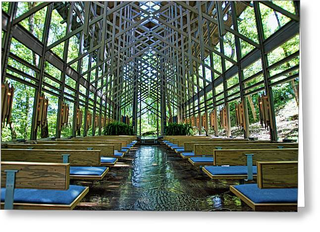 Thorncrown Chapel Interior Greeting Card