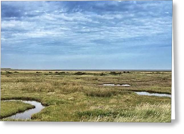 Thornham Marshes, Norfolk Greeting Card by John Edwards