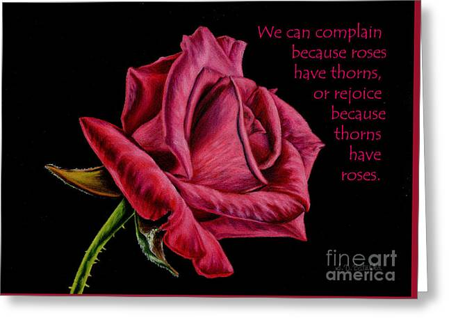 Thorns Have Roses  Greeting Card by Sarah Batalka