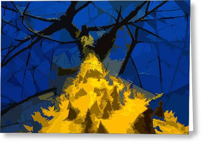 Thorny Tree Blue Sky Greeting Card by David Lee Thompson