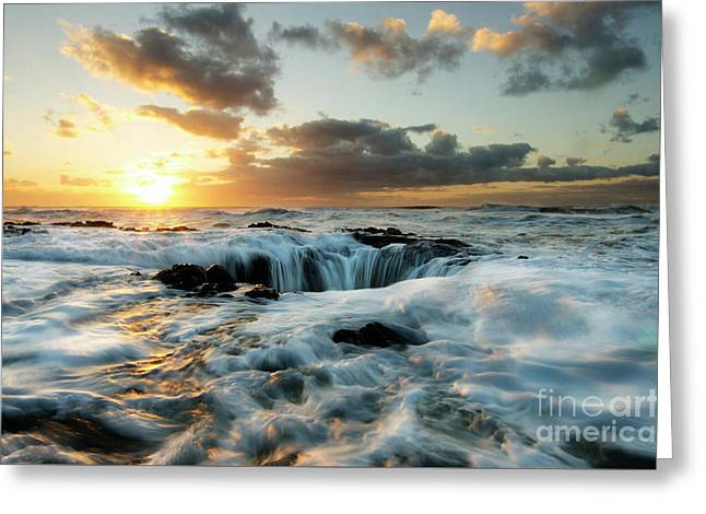 Thors Well Cape Perpetua 2 Greeting Card