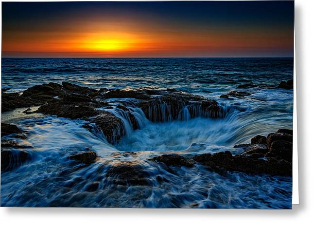 Thor's Well II Greeting Card by Rick Berk