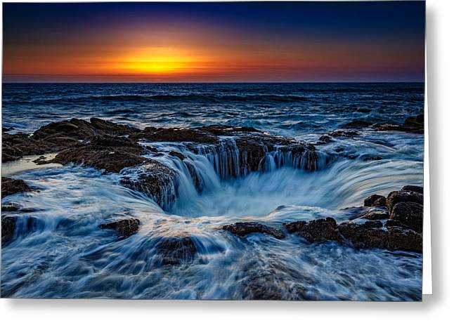 Thor's Well Greeting Card by Rick Berk
