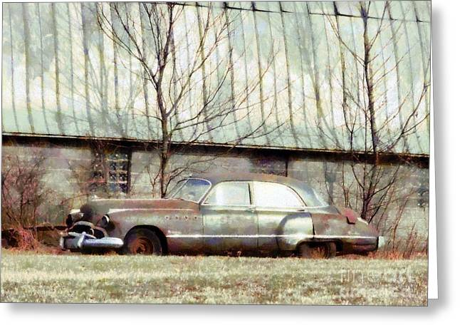 Greeting Card featuring the photograph Those Were The Days - 49 Buick Roadmaster by Janine Riley