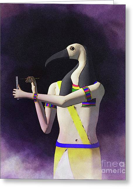 Thoth - God Of Egypt Greeting Card