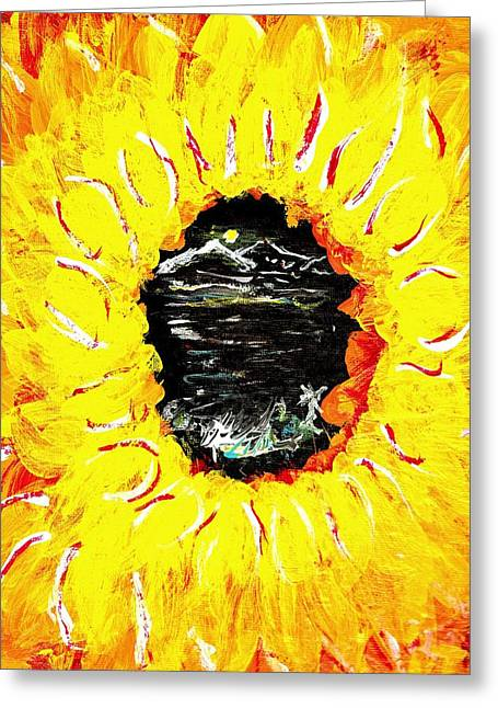 Though The Eye Of A Flower Greeting Card by Ross Isgar