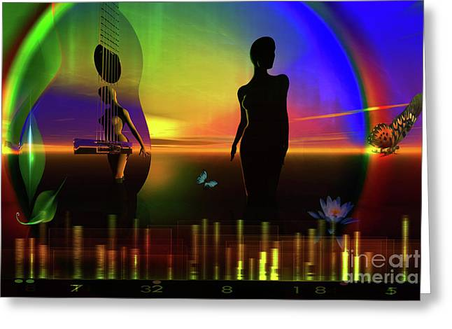 Greeting Card featuring the digital art Thought Form by Shadowlea Is