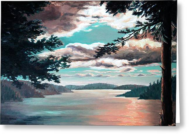 Ontario Landscape Print Greeting Cards - Thousand Island Sunset Greeting Card by Otto Werner