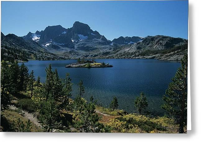 Thousand Islands Lake - Glacier - Mount Davis Jmt Greeting Card