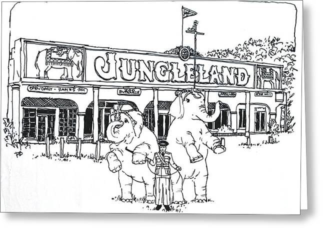 Thousand Oaks Ca Jungleland Greeting Card