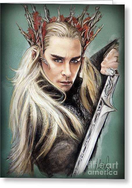 Thranduil / The Hobbit / Greeting Card by Melanie D