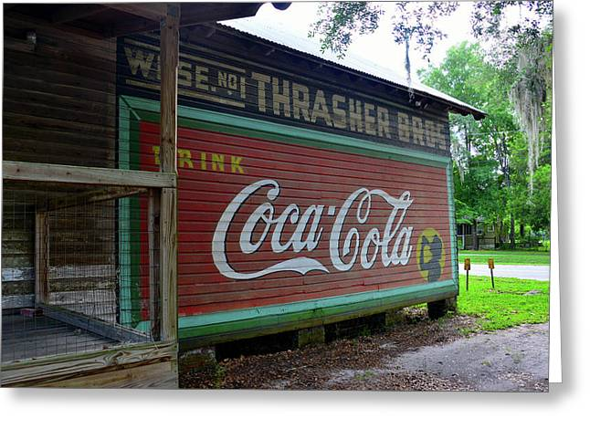 Thrasher Store Coke Sign Greeting Card by David Lee Thompson