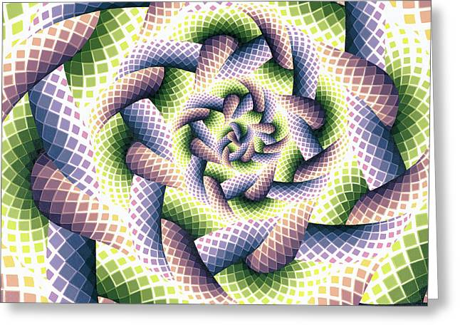 Threads Of Light  Greeting Card by Ellison Design