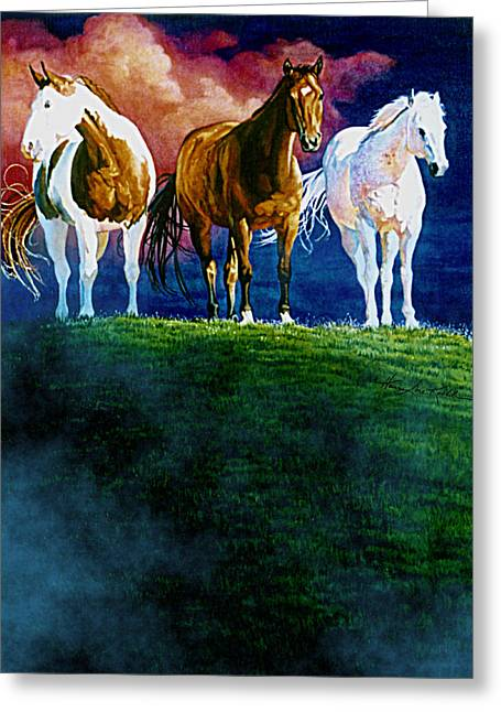 Three Amigos At Sunrise Greeting Card by Hanne Lore Koehler
