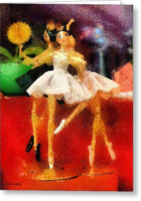 Three Ballet Dancers Greeting Card