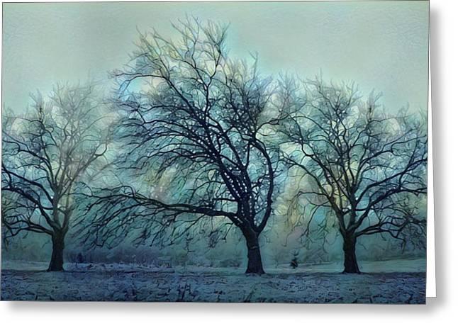 Three Bare Trees Greeting Card