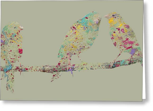 Three Birds Greeting Card by Brian Reaves