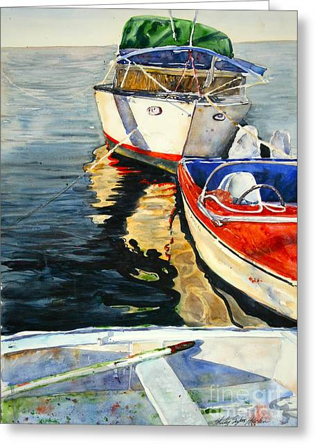 Three Boats Waiting Greeting Card