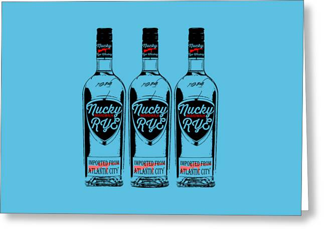 Three Bottles Of Nucky Rye Tee Greeting Card