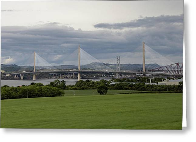 Three Bridges Over The Forth Greeting Card