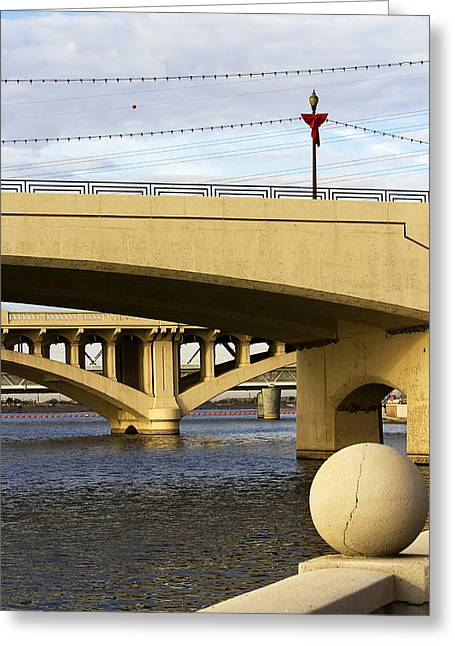 Greeting Card featuring the photograph Three Bridges by Phyllis Denton