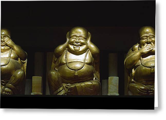Three Buddhas Greeting Card