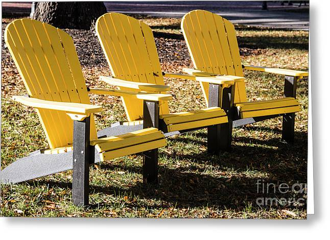 Three Chairs For Sitting 5704 Greeting Card