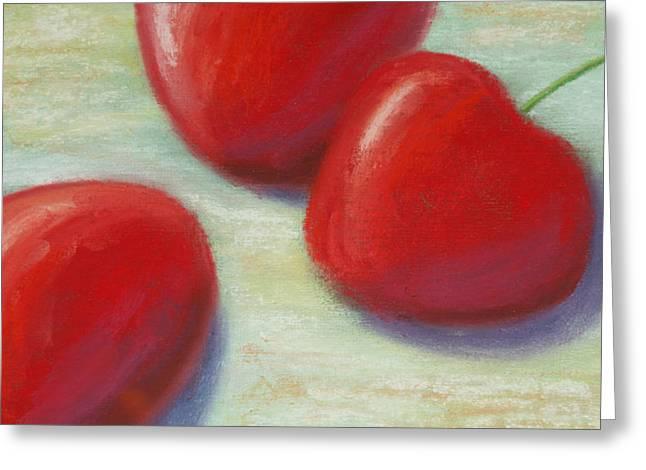 Three Cherries Greeting Card