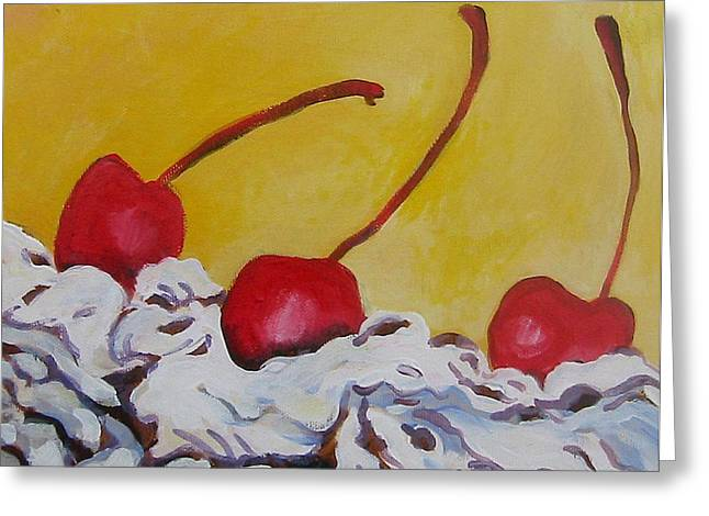 Three Cherries Greeting Card