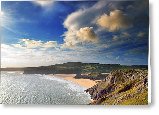 Three Cliffs Bay 1 Greeting Card