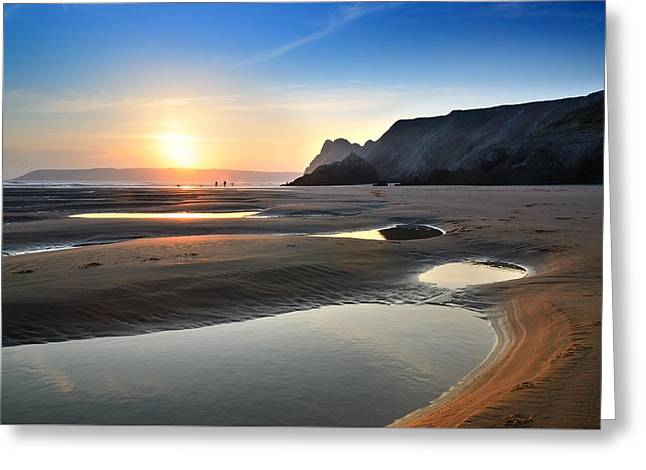 Three Cliffs Bay 2 Greeting Card