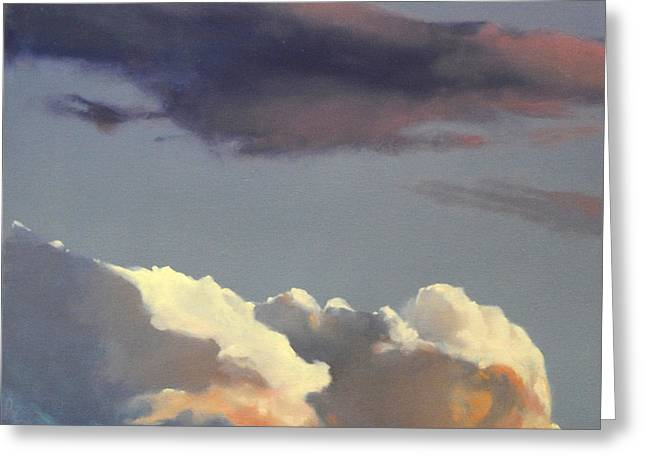 Greeting Card featuring the painting Three Clouds Sold by Cap Pannell