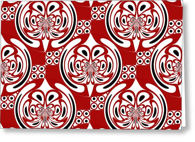 Three Colors Pattern Greeting Card
