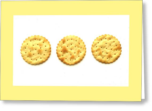 Three Crackers Greeting Card