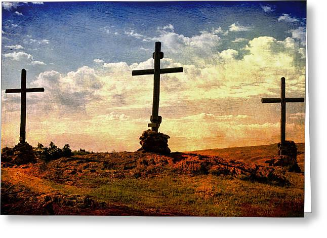Three Crosses Greeting Card