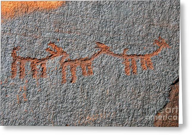Three Deer Greeting Card by David Lee Thompson